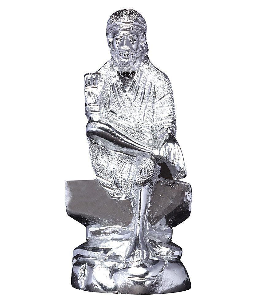 Mangal Handcrafted White Metal Sai Baba Idol 7k