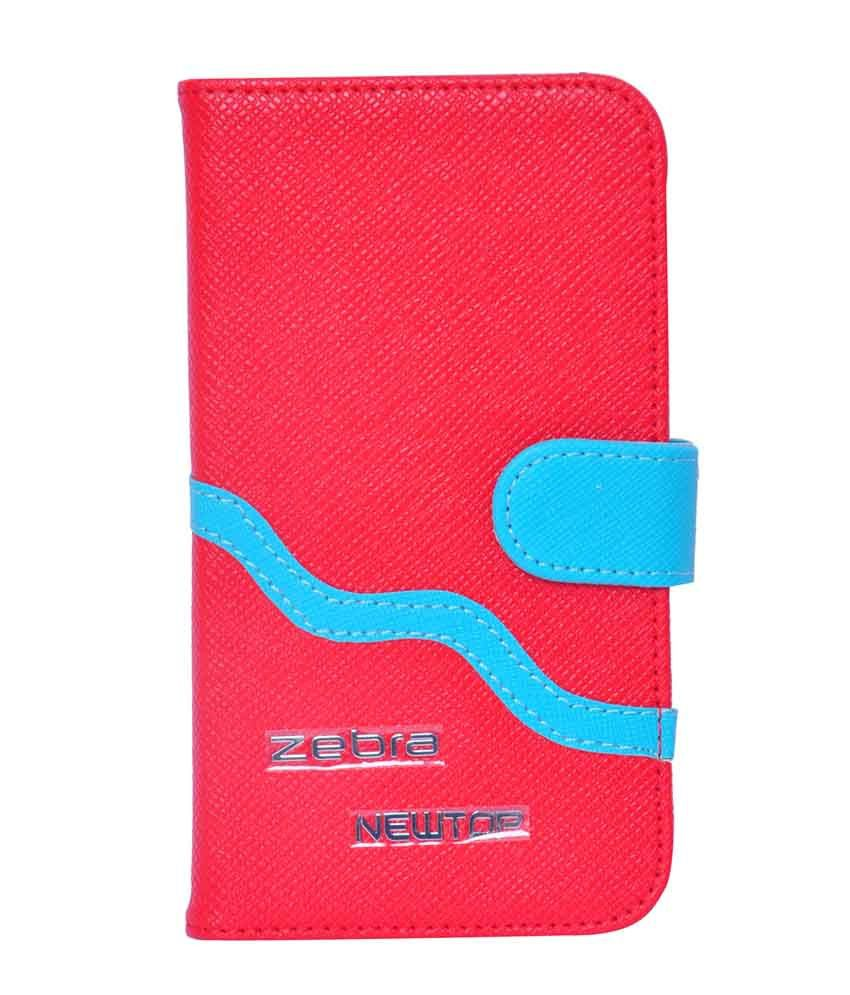 Mobidress New Zebra Wallet Style Flip Cover For Samsung Galaxy Grand 2 - Red