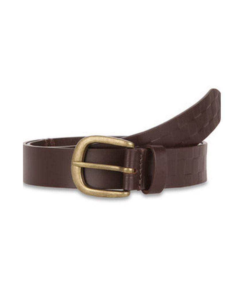 Paradigm Design lab Brown Casual Leather Belt