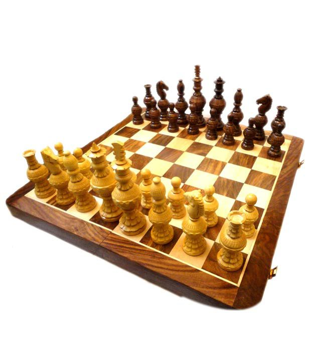 Craft Store India Hand Made Wooden Folding Chess Board
