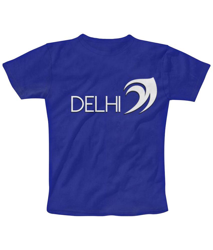 Freecultr Express Fantastic Blue & White Round Neck T Shirt