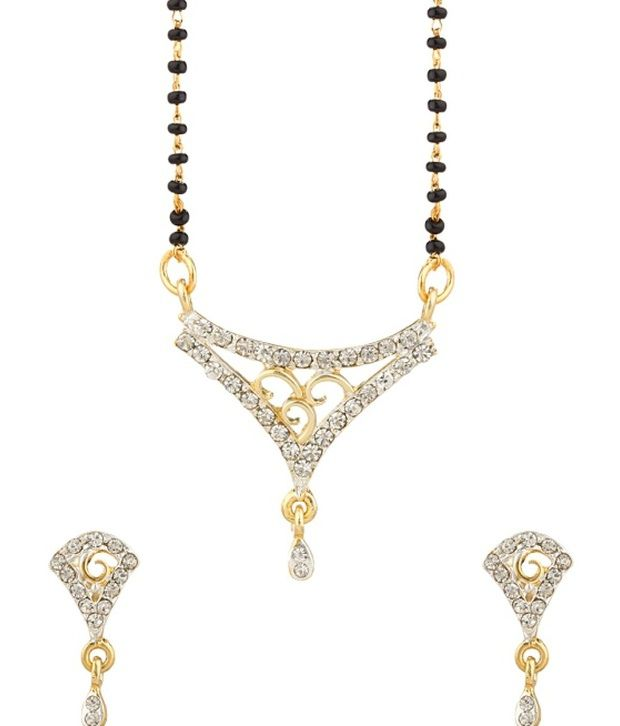 Voylla Magnificent Two Tone Mangalsutra Set
