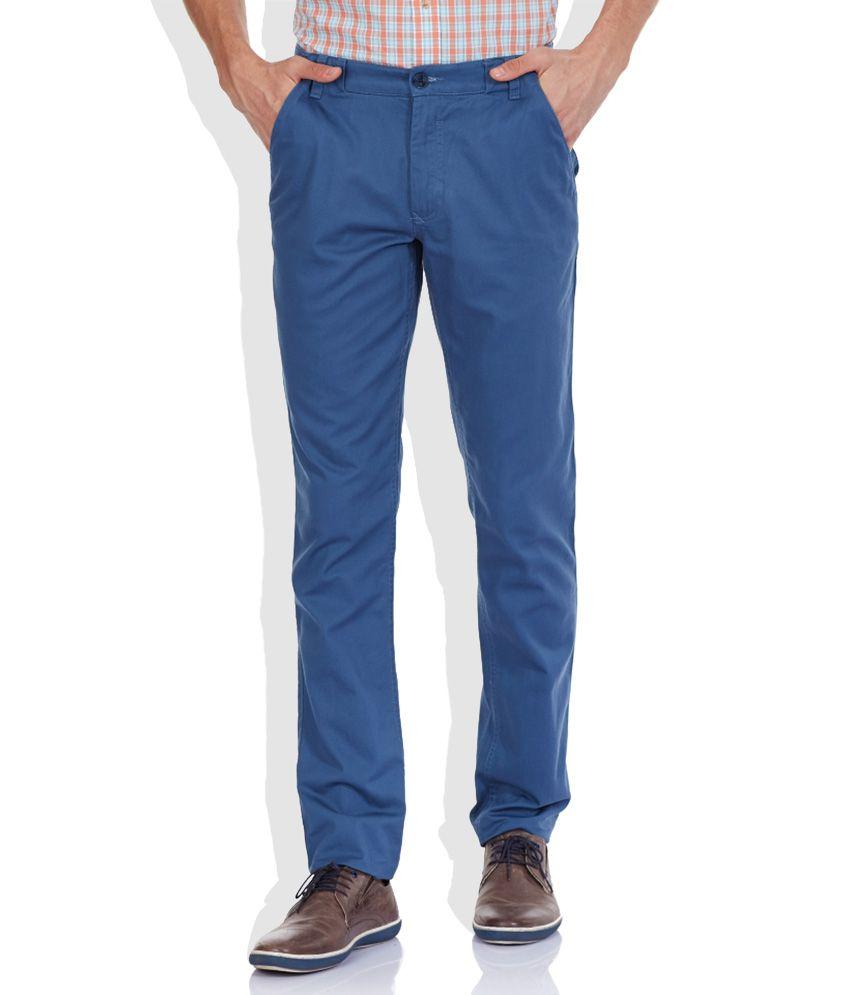 Colorplus Blue Slim Trouser