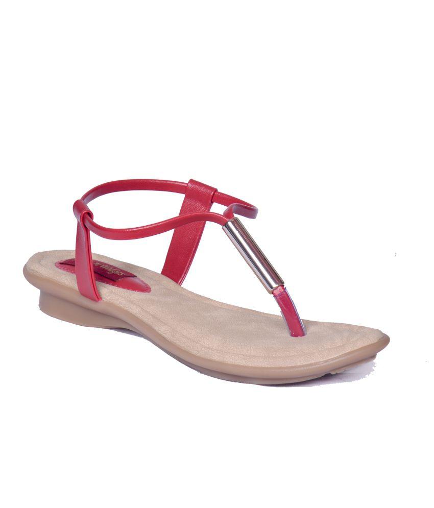 Heels N Wedges Maroon Sandals