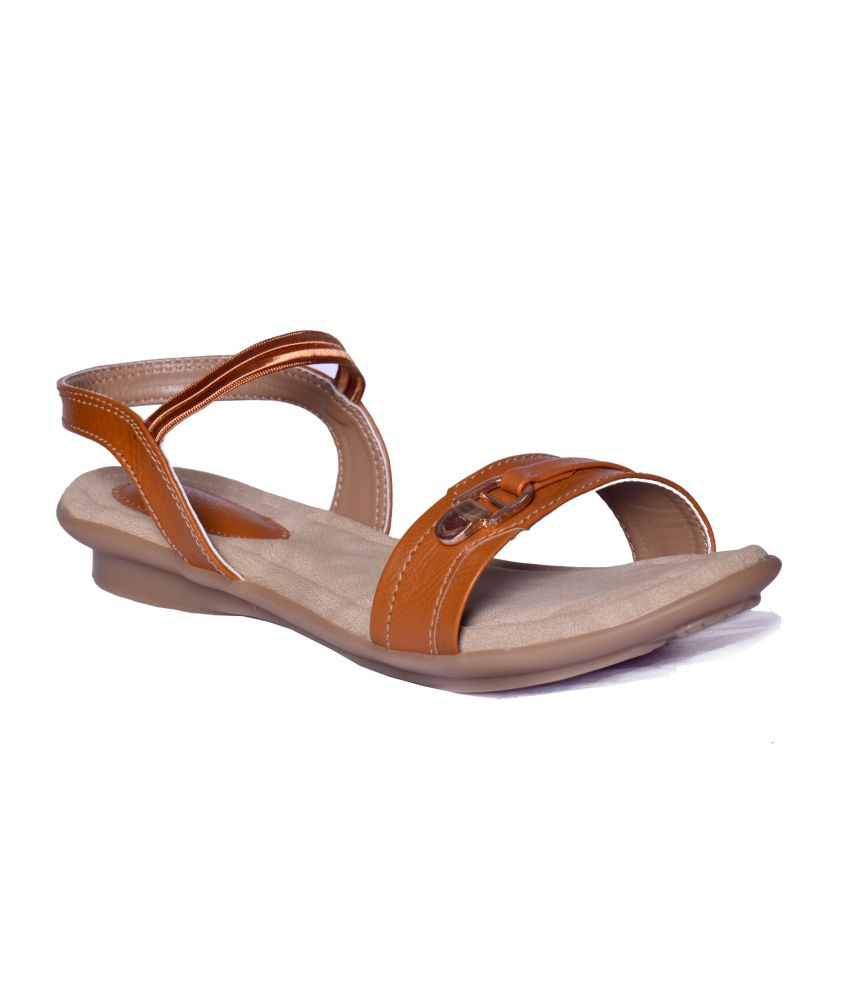 Heels N Wedges Tan Sandals