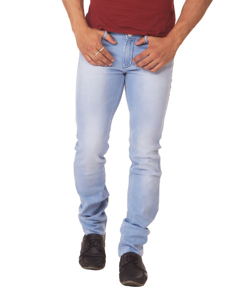 Race-q Light Blue Mens Jeans