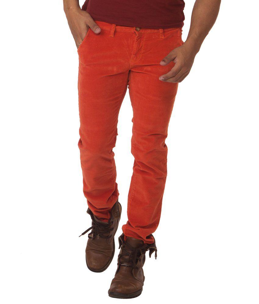 Race-q Orenge Mens Jeans