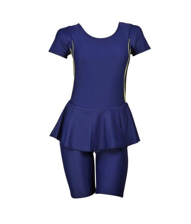 Champ Blue Padded Swimwear With Knee Length Shorts/ Swimming Costume