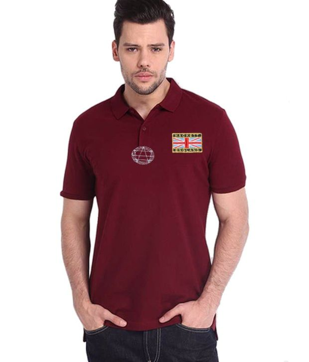 Hackett Maroon Cotton T Shirt