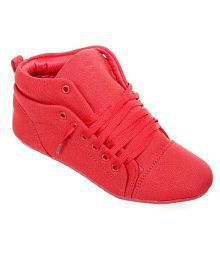Darling Deals Red Mesh Lifestyle Women Sports Shoes