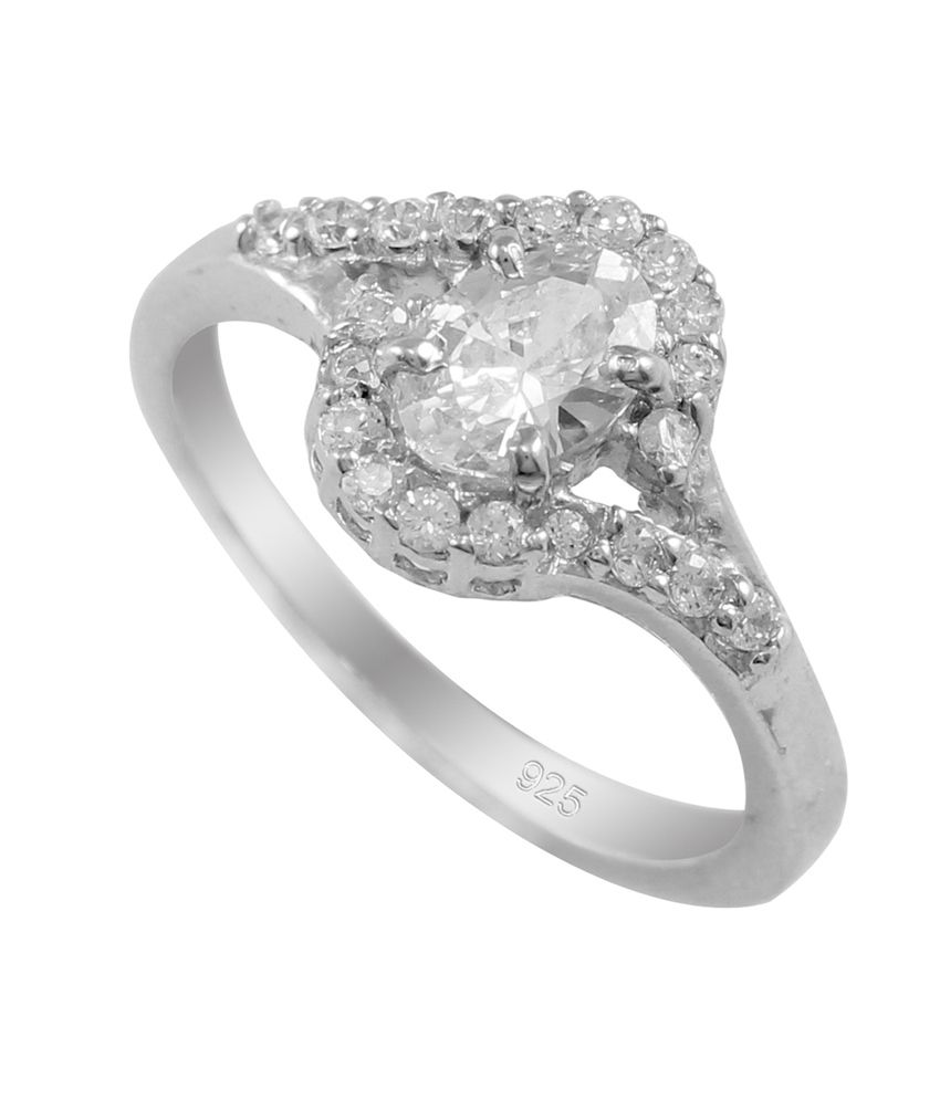 925 Silver Exellent And Worth Buying Swarovski Crystal Silver Ring for Beautiful Girl white Colour