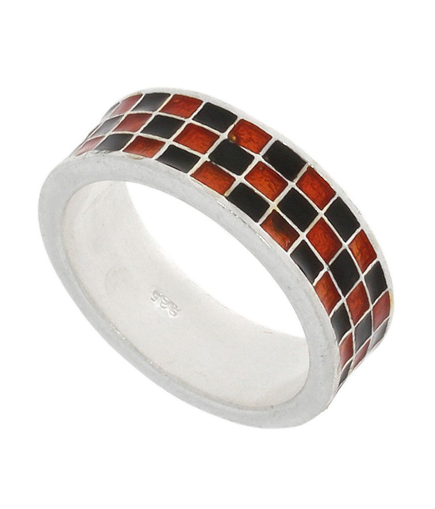 925 Silver Try The Shiny Colorful Boxed Enamel Silver Ring That Suits You Well