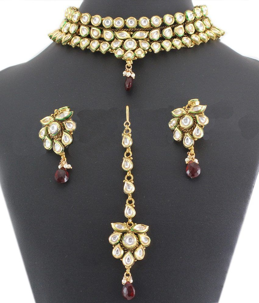 Artificial Jewellery Sets For Wedding: 925 Silver Dancing Artificial Bridal Necklace Jewelry Set
