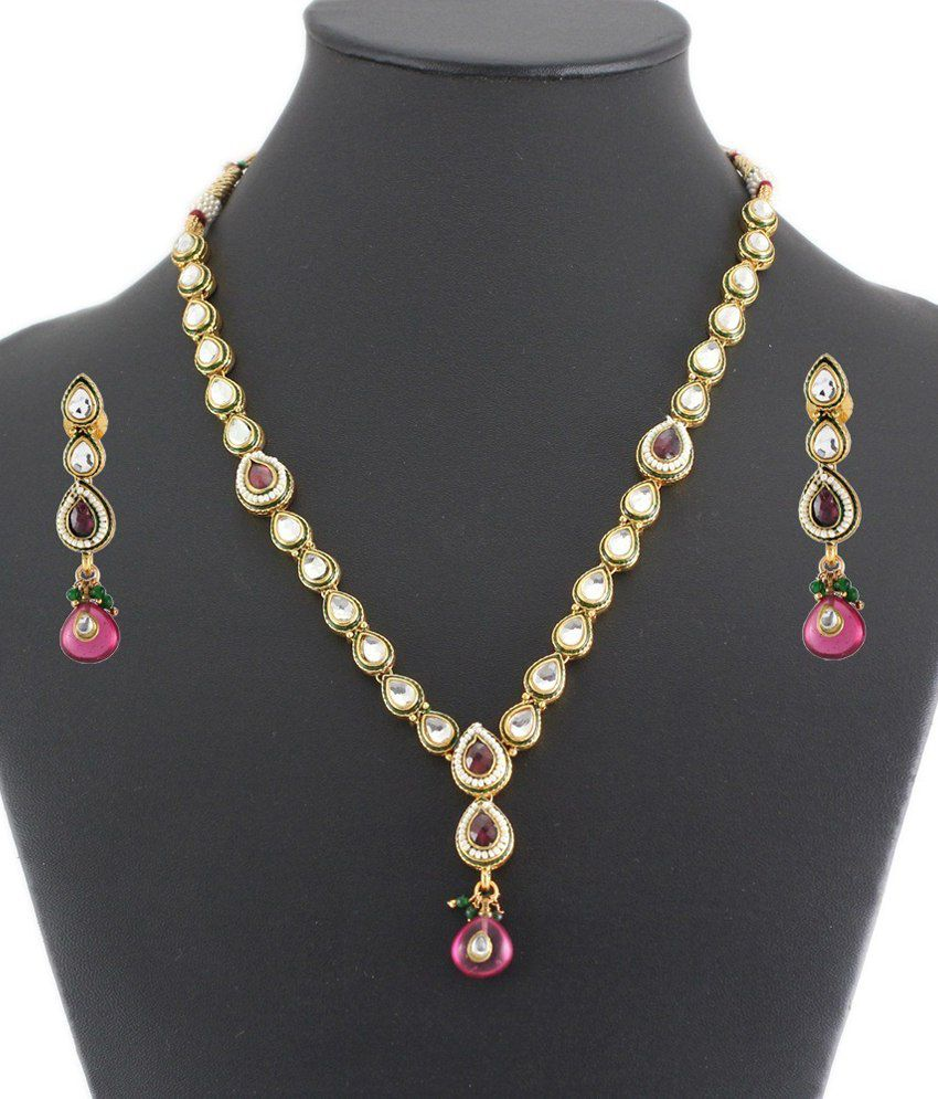 Artificial Bridal Jewellery Sets: 925 Silver Gorgeous Artificial Bridal Necklace Jewelry Set