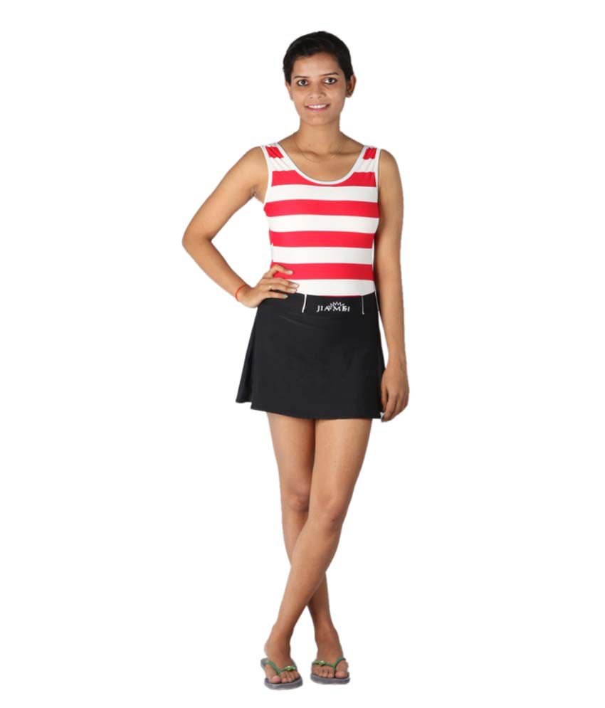 Indraprastha Black And Red Swimsuit/ Swimming Costume