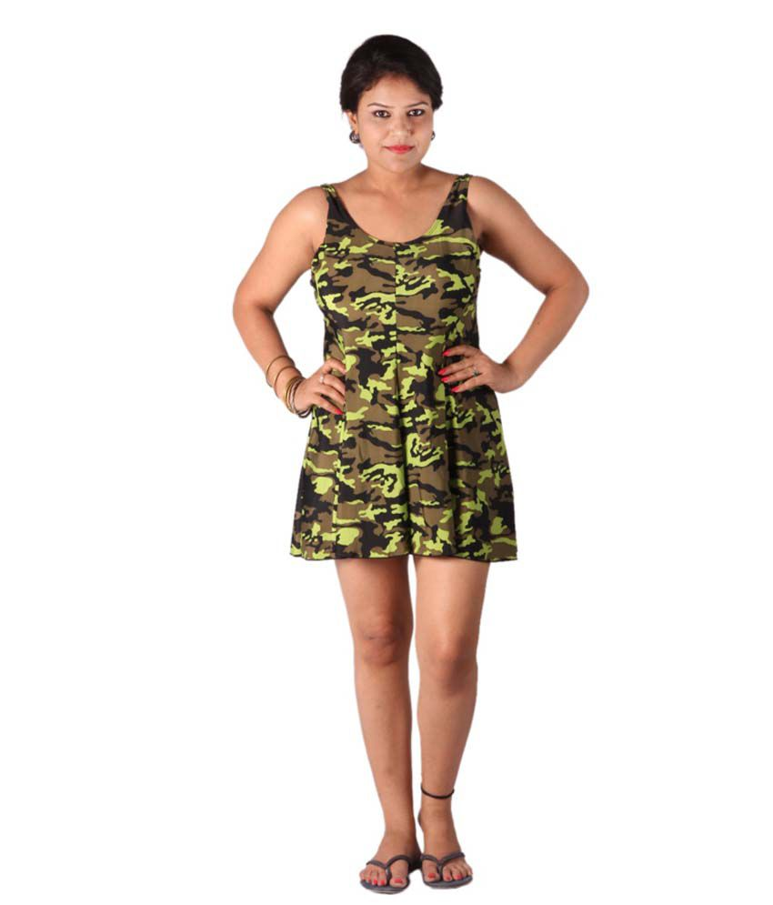 Indraprastha Military Print Swimsuit/ Swimming Costume