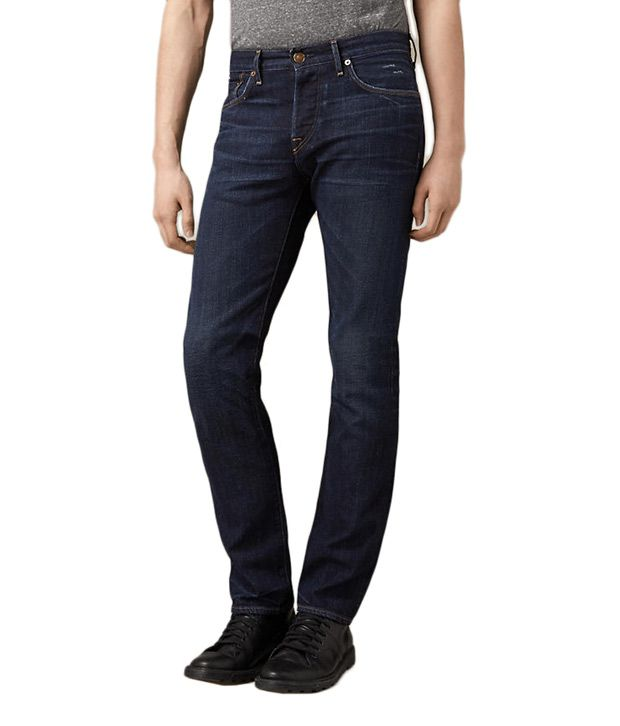 Burberry Dual Blue Cotton Relaxed Fit Jeans