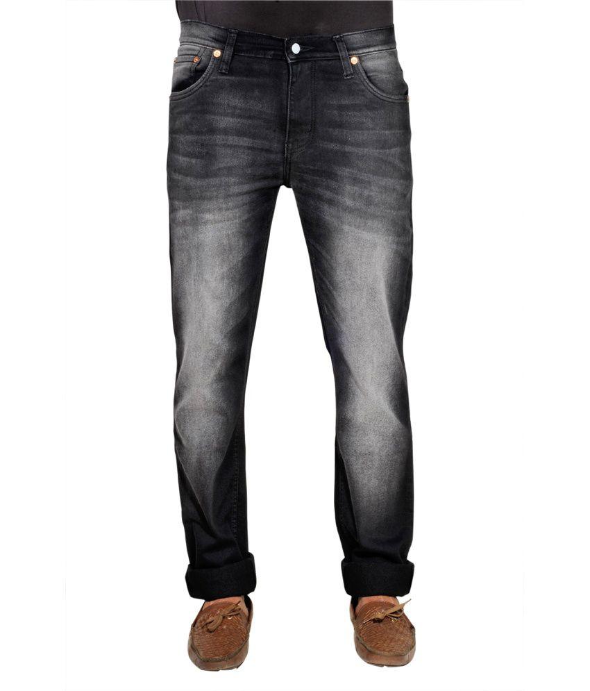Levis Slim Fit Light Black Cotton Jeans