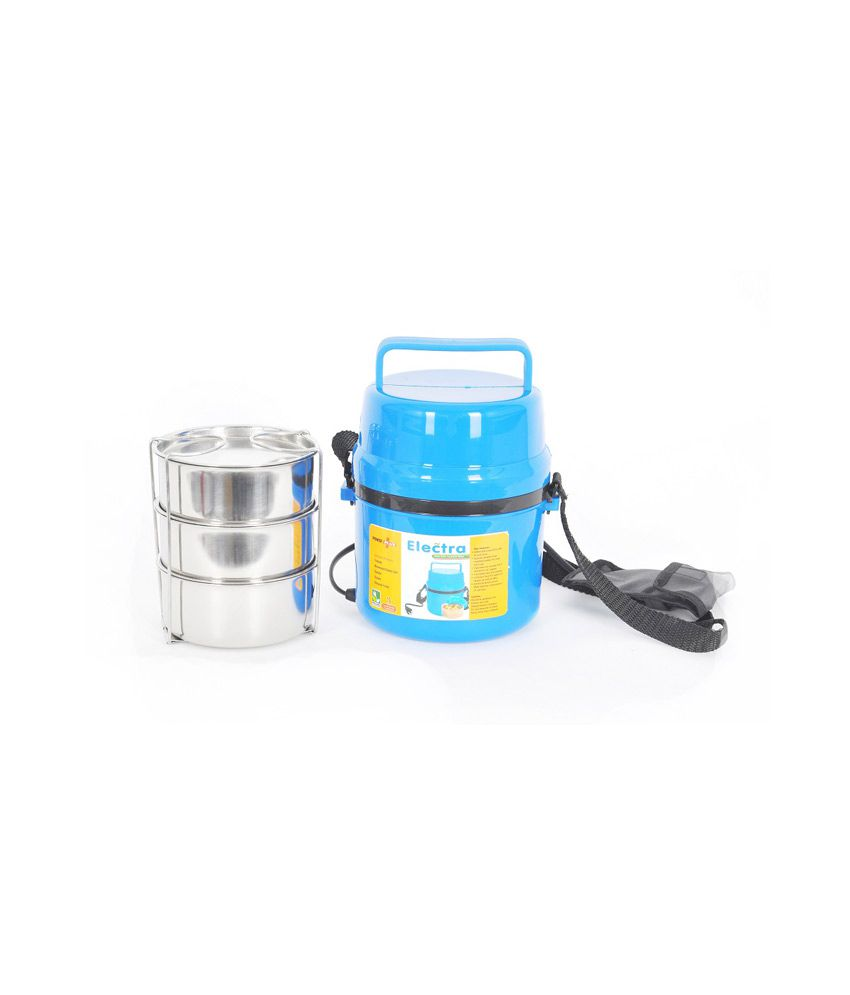Power Plus Blue Electra Lunch Box Steel - 3 Container + H07 Stainless Steel Tiffin Sets ...  sc 1 st  Snapdeal & Power Plus Blue Electra Lunch Box Steel - 3 Container + H07 ... Aboutintivar.Com