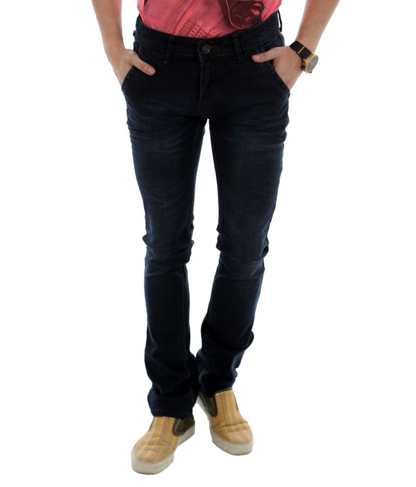 Unison Black Cotton Men Jeans