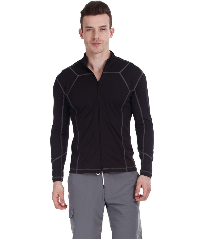 Zobello Black Polyester Fitness Jacket
