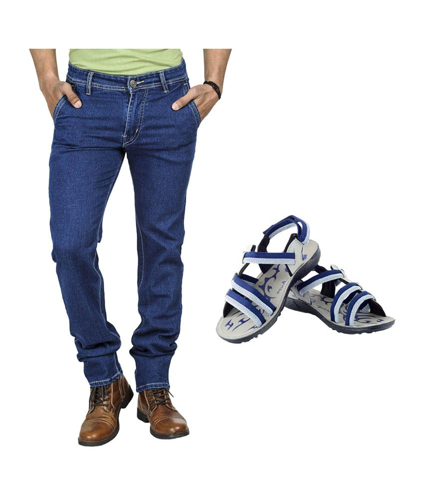 Eprilla Stylish Blue Jeans with Sandals (Pack of 2)