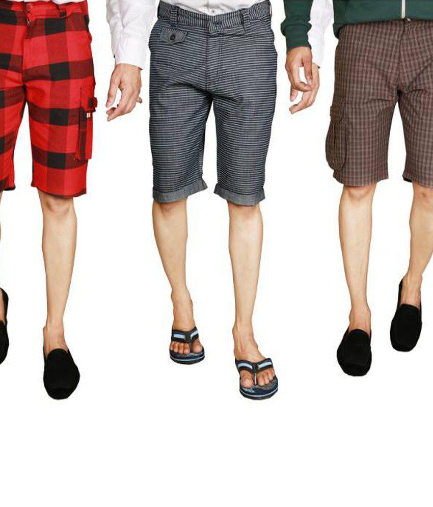 Jafar Cotton Shorts Set Of 3