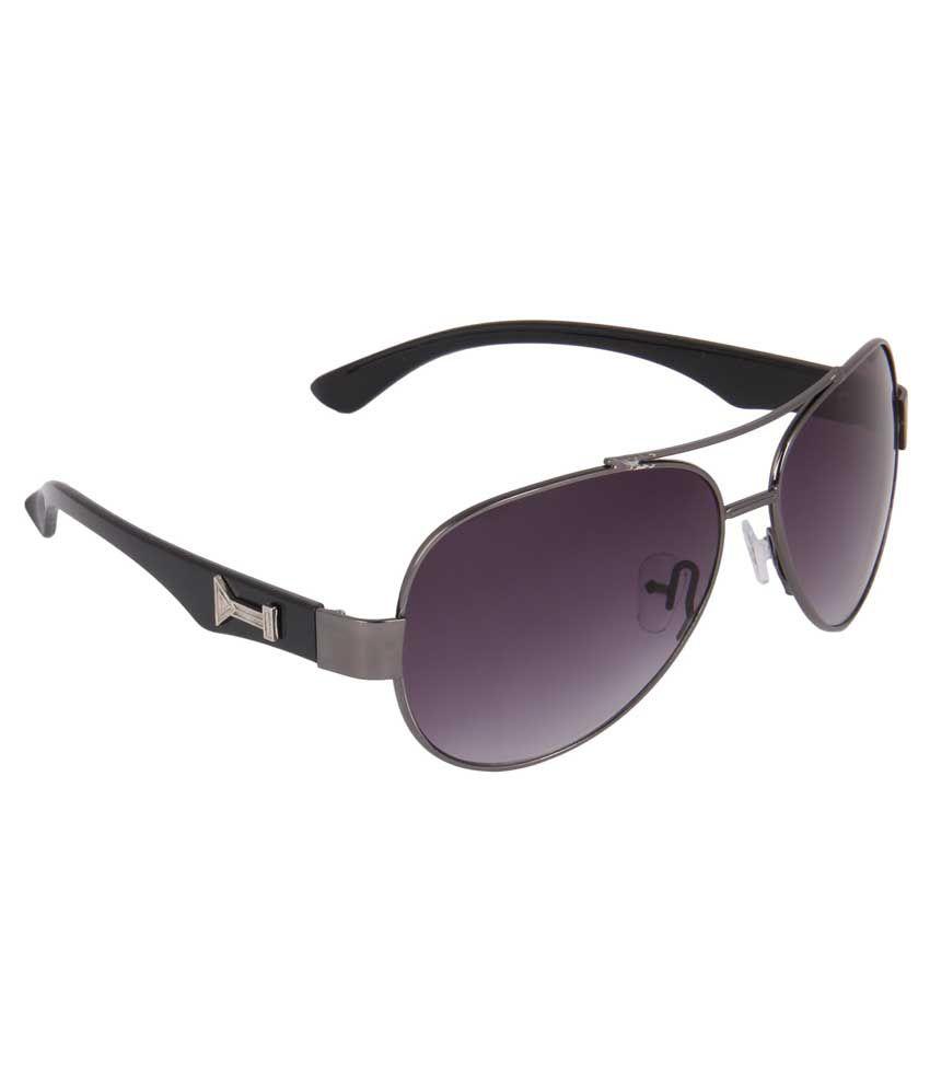 Mount Track AV-UV_39 Purple Aviator Medium Sunglasses