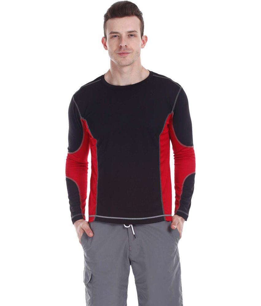 Zobello Dri-Best Contrast Panel Long Sleeve Crew