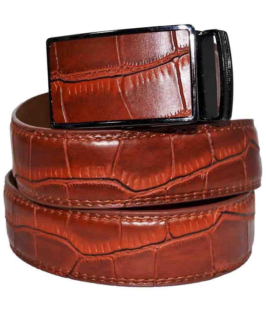 Banjara Maroon Leather Belt