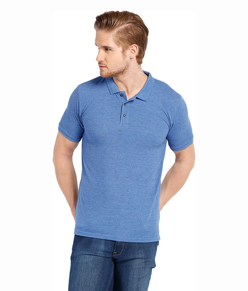 highlander blue cotton blend polo t shirt buy highlander blue cotton blend polo t shirt online. Black Bedroom Furniture Sets. Home Design Ideas
