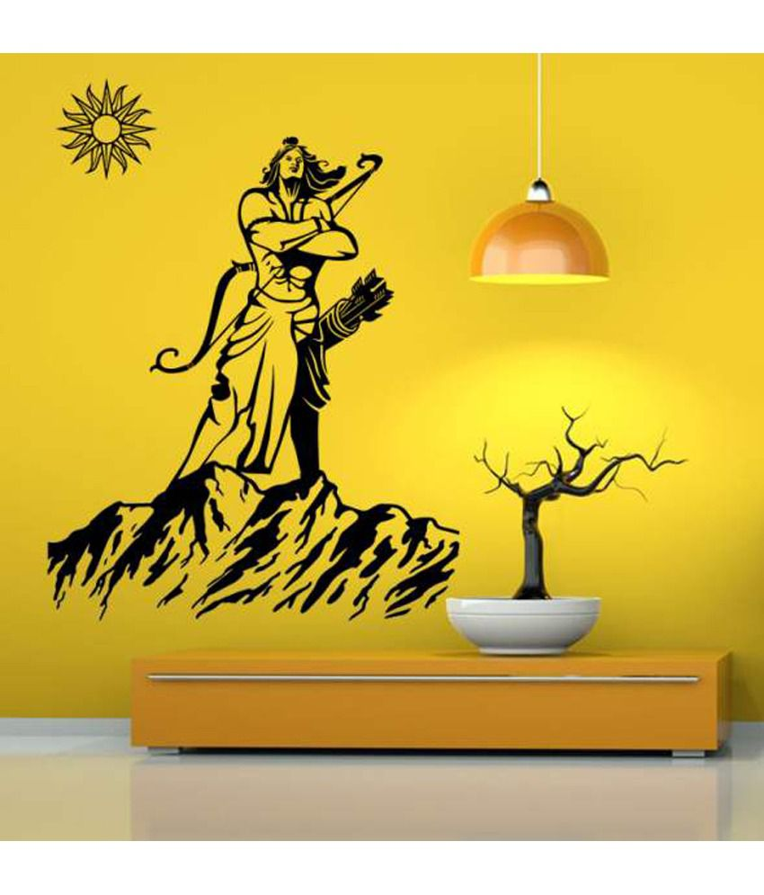 Hoopoe Decor Lord Rama With Sun Wall Sticker - Buy Hoopoe Decor Lord ...