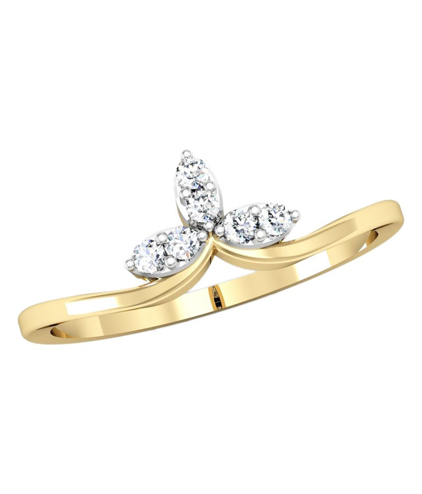 Vachya 14K Gold Diamond Ring