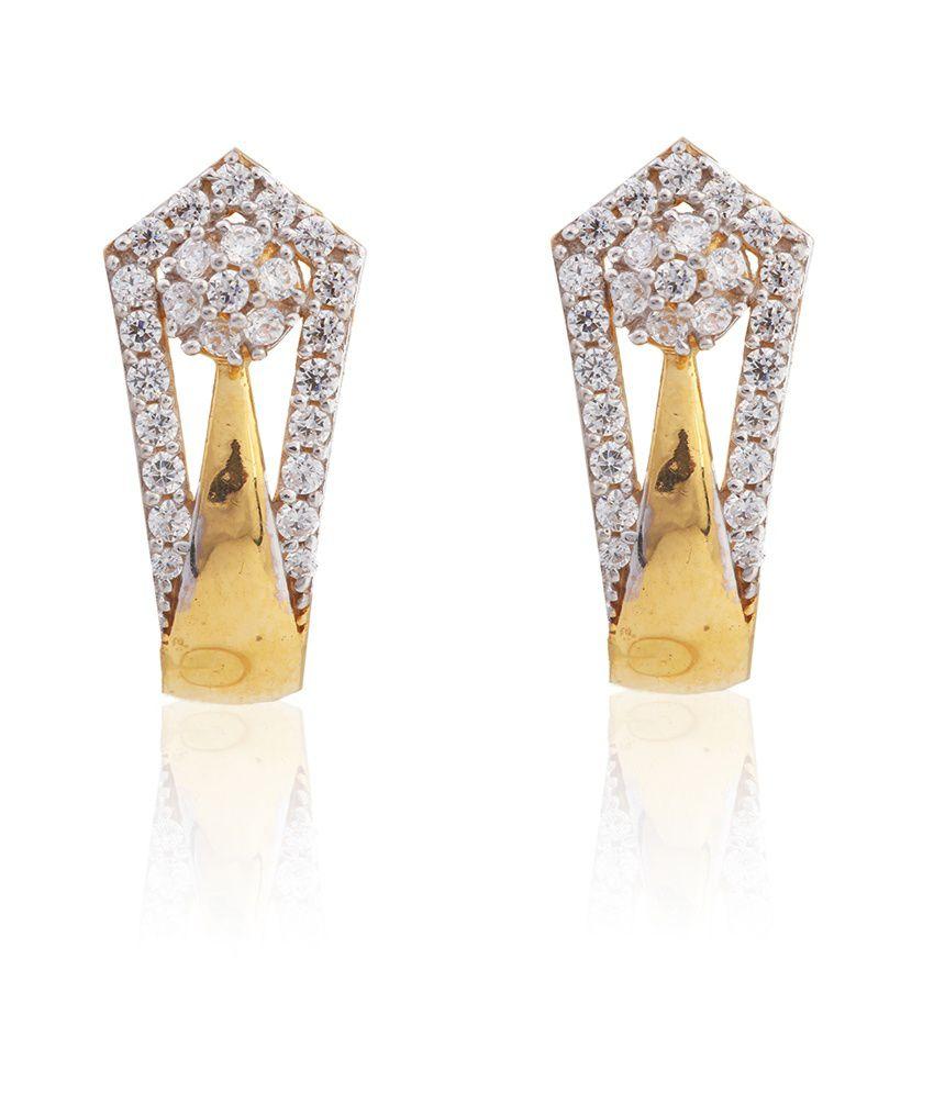 Asure Precious Metal Private Limited Crocus Gold Earrings