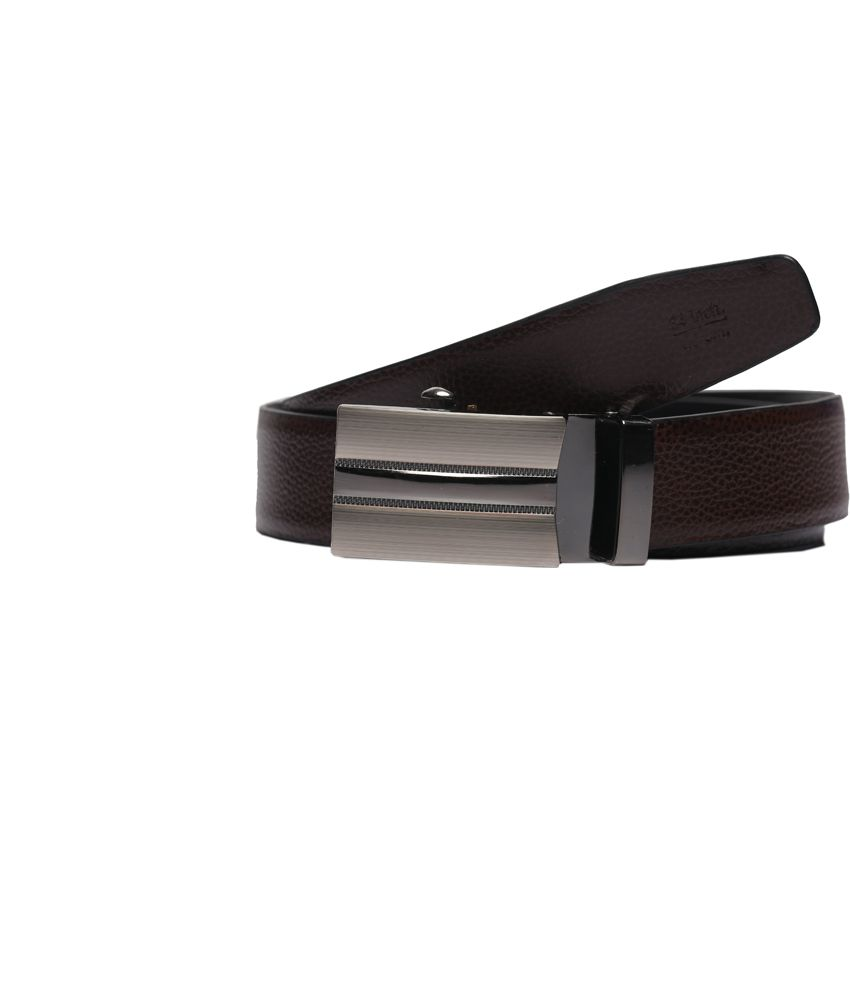 Magson Czar Black and Brown Pure Leather Belt
