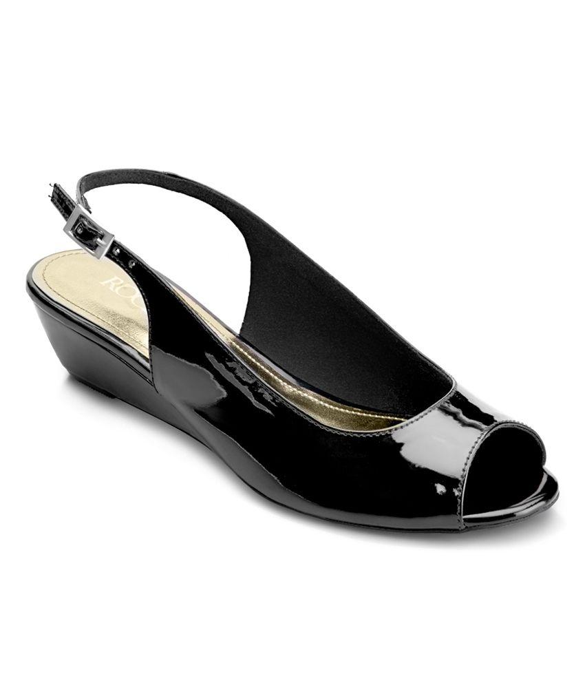 Rocia Black Heeled Sandals