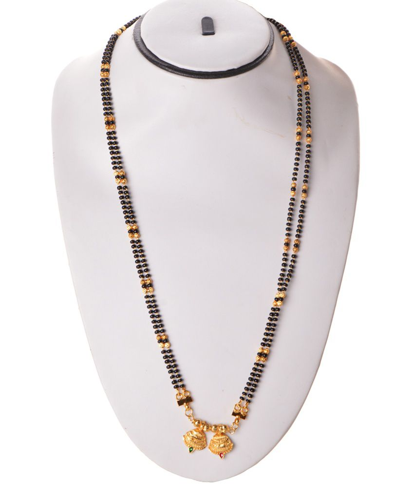 e0fc0f5f69694 Zakasdeals Black Beads Alloy Long Wati Mangalsutra: Buy Zakasdeals ...