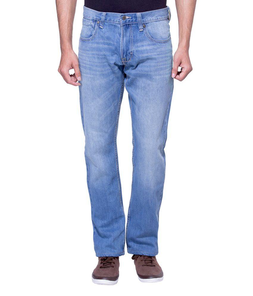 Zovi Regular Fit Blue Light Denim Jeans
