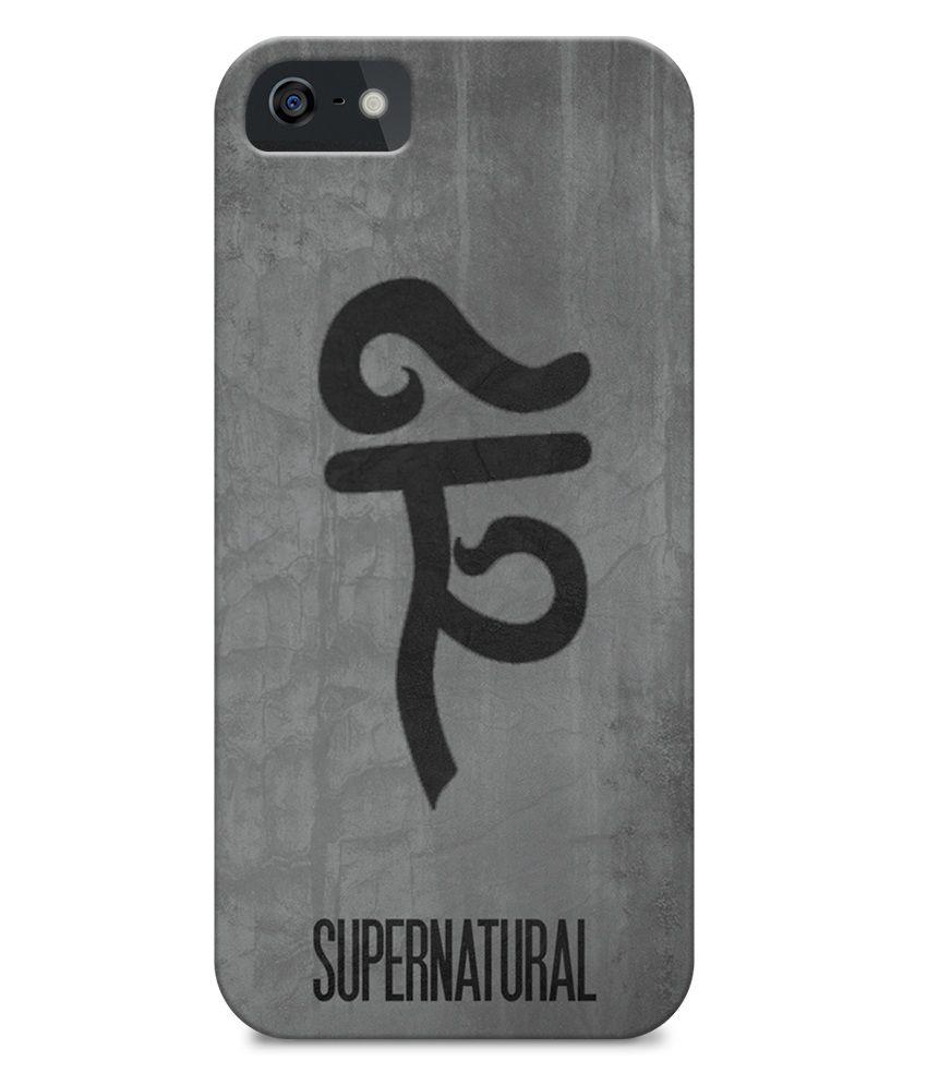 Astrode Supernatural Minimalist Poster 03 Back Case Cover For Apple IPhone  5/5S