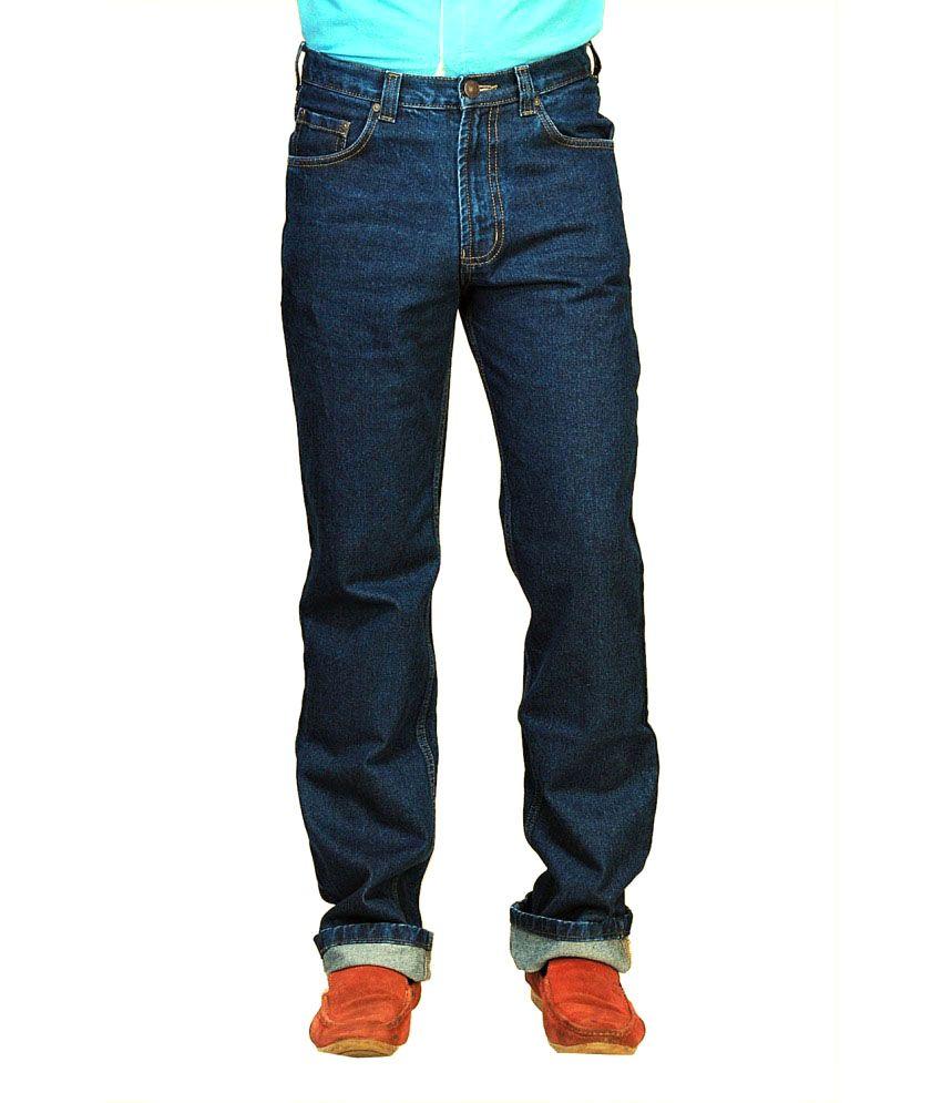 Hoffmen Blue Cotton Blend Regular Jeans