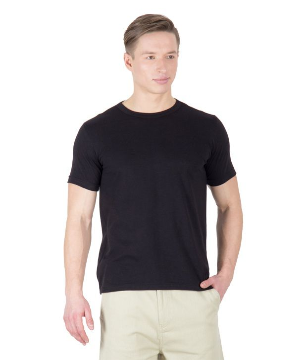 Hypernation Black Cotton T-shirt