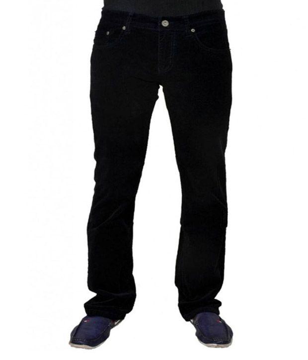 Jovial Mart Black Cotton Denim Jeans
