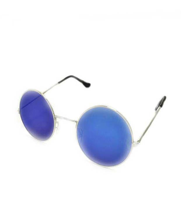 Backley BS-1815 Silver Plastic Round Sunglasses