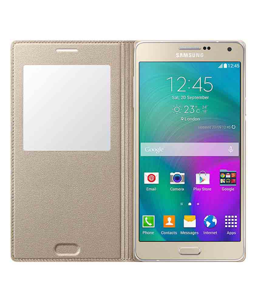 check out f06fd b9cd4 Samsung Galaxy A5 Flip Cover by Samsung - Golden