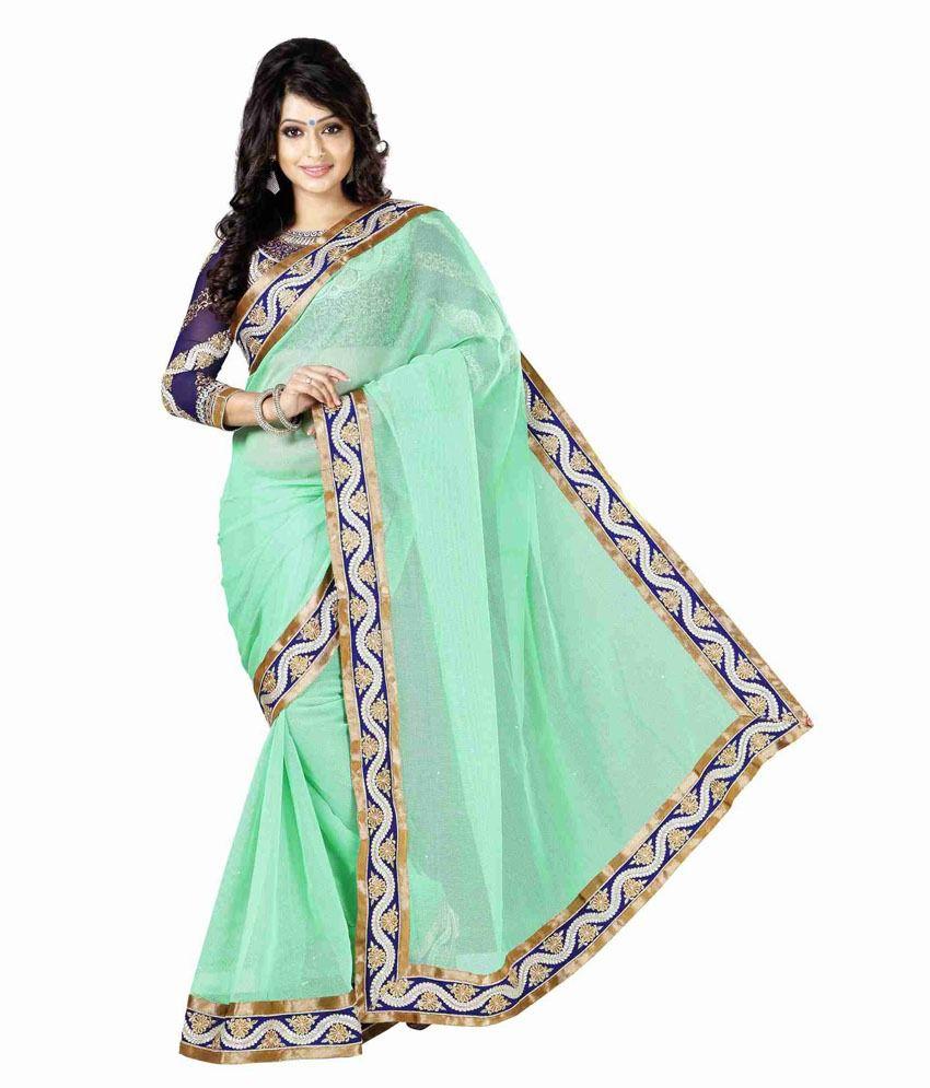 6688a790f204eb URJITA CREATIONS Green Cotton Saree - Buy URJITA CREATIONS Green Cotton  Saree Online at Low Price - Snapdeal.com