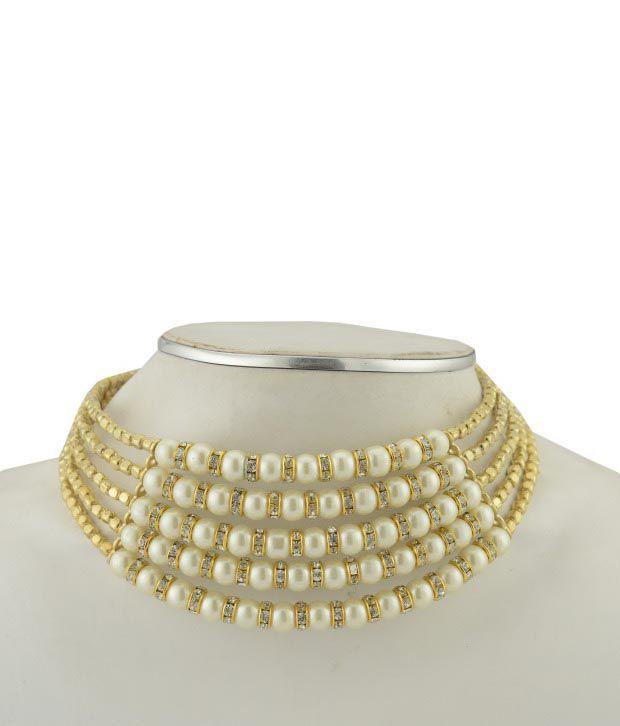 Shilpi Handicrafts Designer Pearl Choker Necklace
