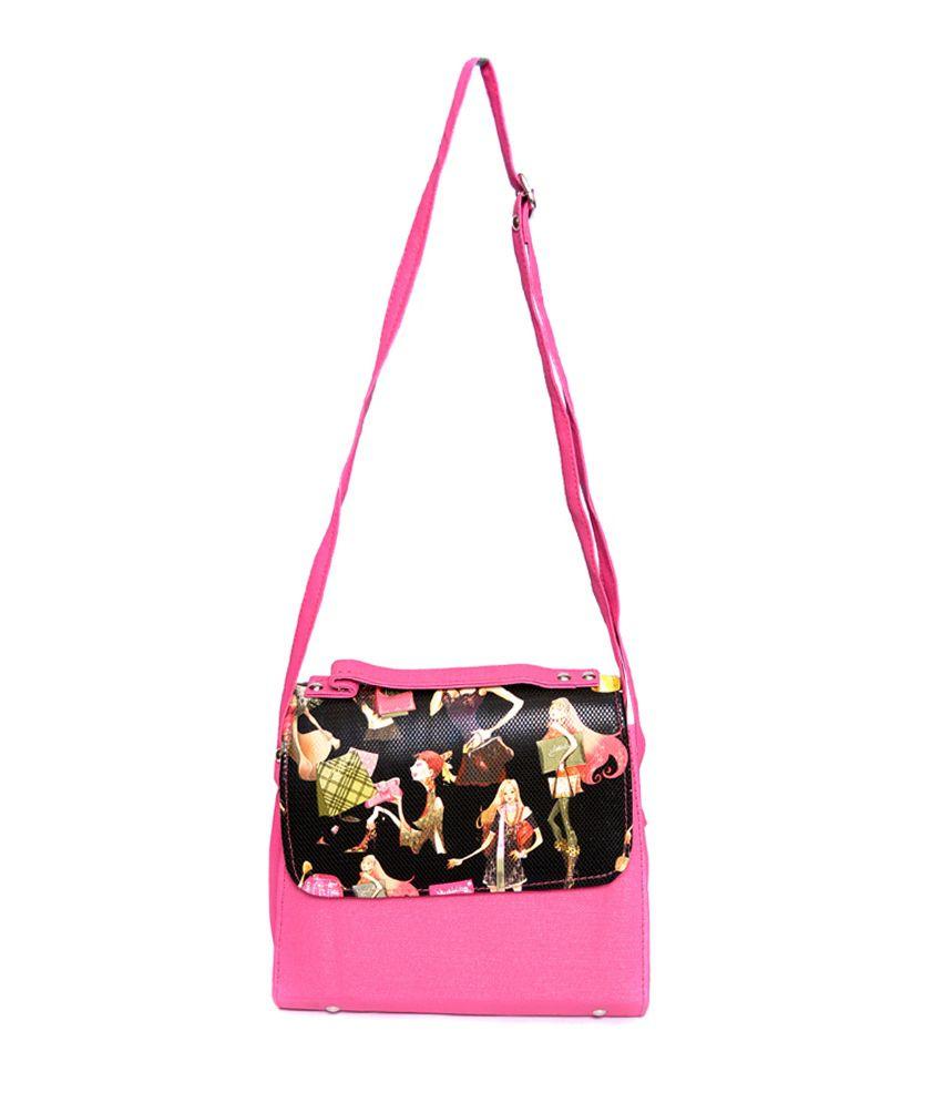 Arista Pink Leather Clutch