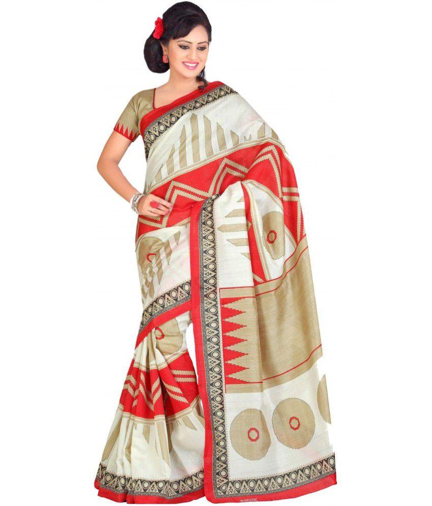 myfab beige bhagalpuri silk saree buy myfab beige bhagalpuri silk saree online at low price. Black Bedroom Furniture Sets. Home Design Ideas