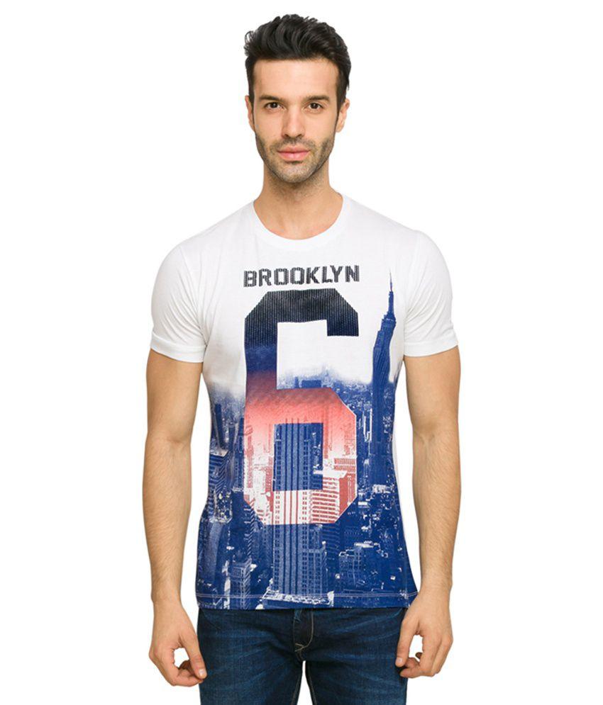 Status Quo Navy Cotton Round Neck T-Shirt
