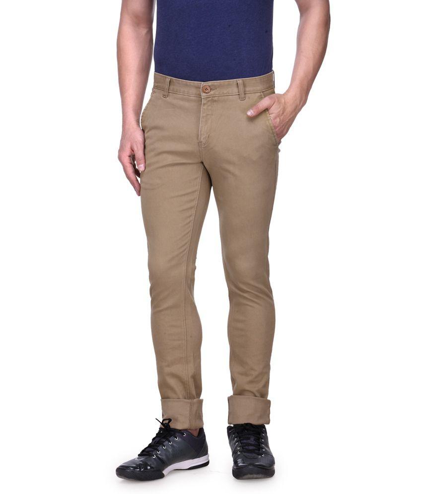 Vintage Khaki Cotton Basics Tapered Denim jeans